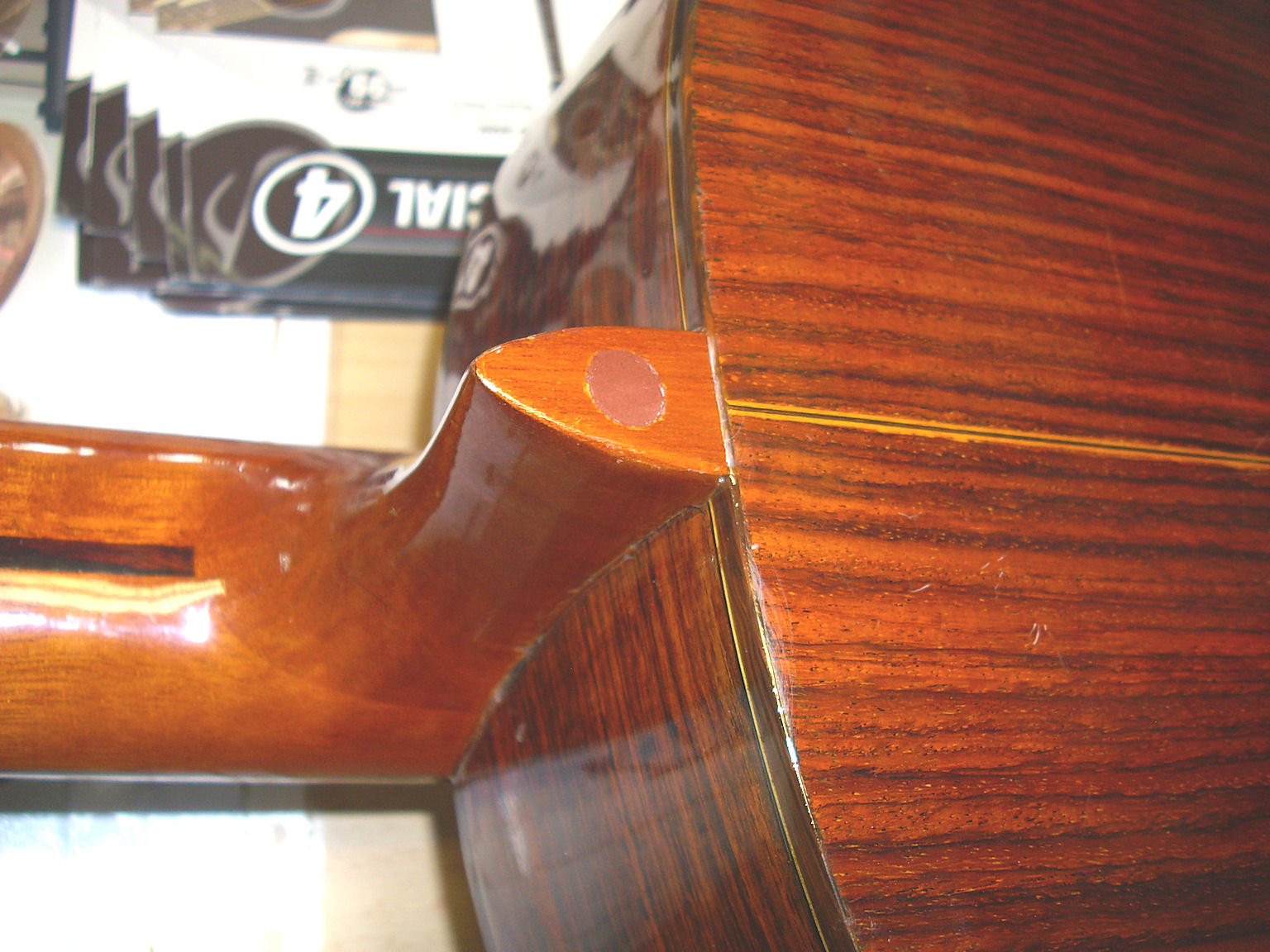 Ibanez York Classic ex Halsbruch neckfoot repaired 3